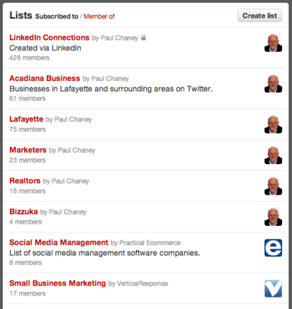 Twitter lists enable you to manage followers more efficiently.