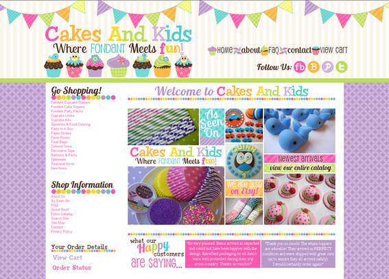 Julie Degnan of Cakes and Kids personalizes products to match invitations or other party items.