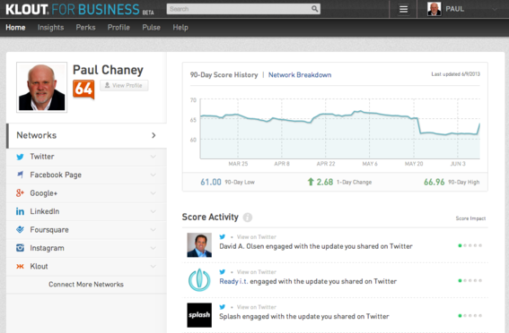 Klout for Business helps merchants identify the most influential members of their social network communities.