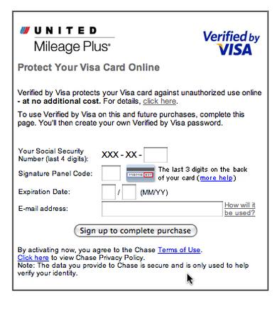 Visa Securecode