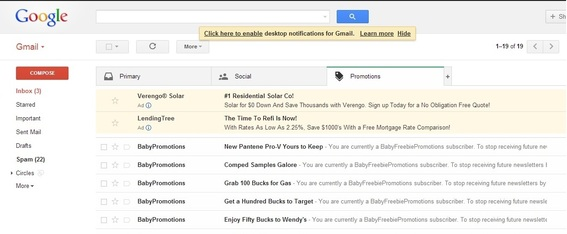 Gmail sample.