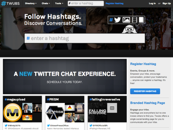Twubs is designed to manage Twitter hashtag chats.