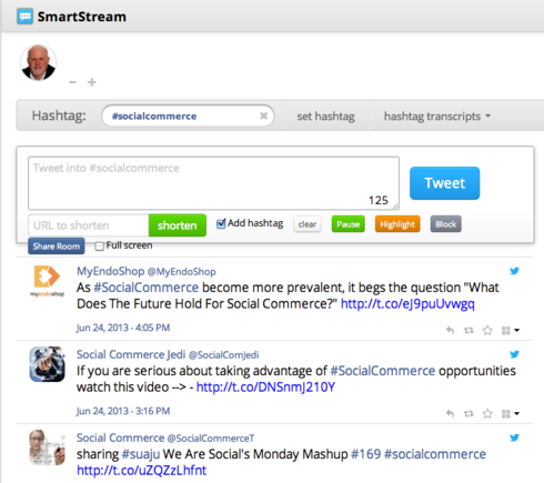 SmartStream is built on the TweetChat platform.