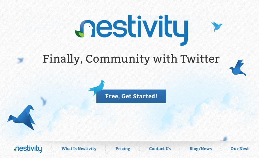 1843427a214 Nestivity turns a Twitter account into an online community.