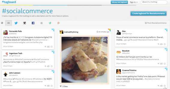 Tagboard tracks hashtag use across multiple social networks.