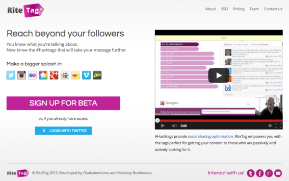 RiteTag is a hashtag discovery tool that spans multiple networks.