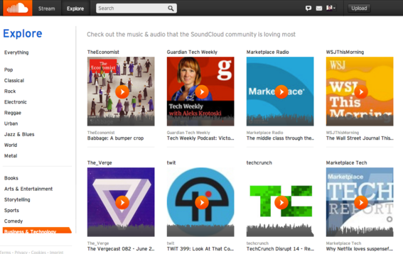 SoundCloud is another popular podcast network.