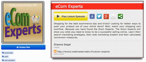 eCom Experts is hosted by Yahoo! store expert Shawna Seigel.