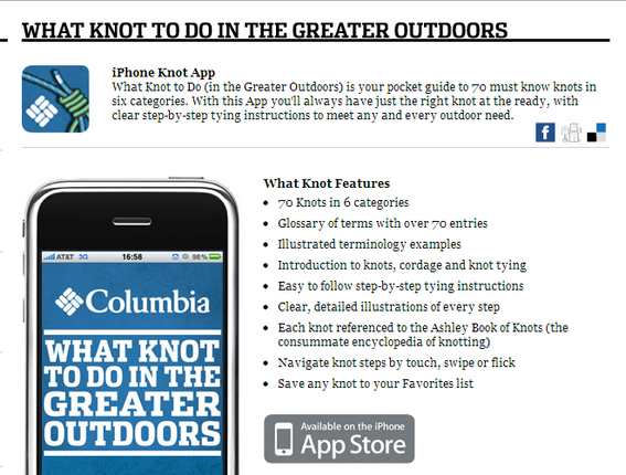 Columbia's mobile app can lead to more traffic.