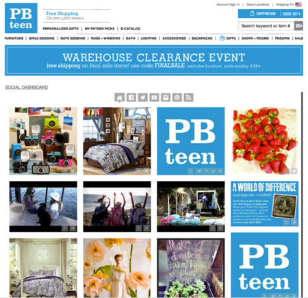 PBTeen uses Tint to display social network content on its website.