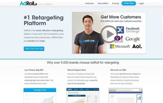 AdRoll helps you remarket to customers.