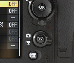 "Most Nikon cameras have a ""live view"" switch for video mode."