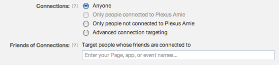 Connections is a targeting option unique to Facebook.