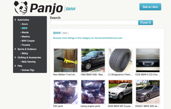 Panjo helps small businesses sell on forums.