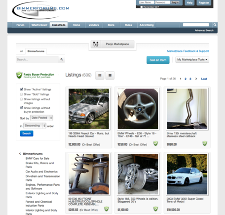 Bimmerforums is upgrading its legacy classified section to a Panjo-based transactional marketplace.