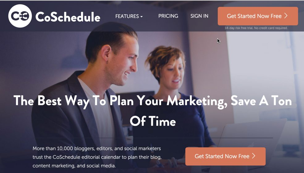 CoSchedule: Editorial calendar for your content and social media marketing.