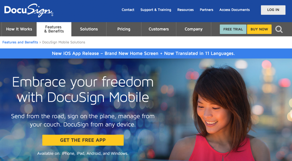 Sign documents on-the-go with DocuSign.