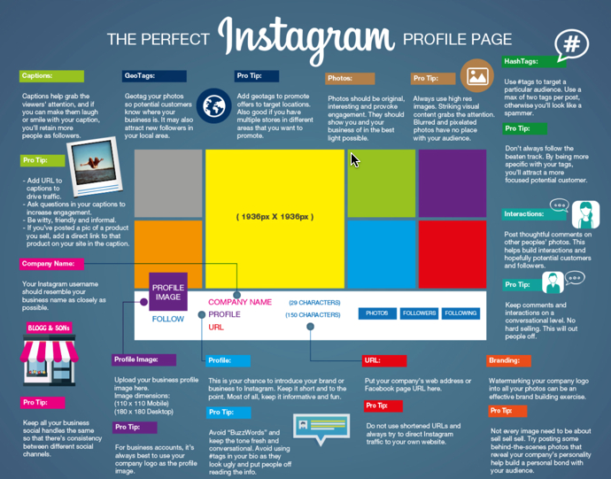 The perfect Instagram profile page. (Source: Setupablogtoday.com)