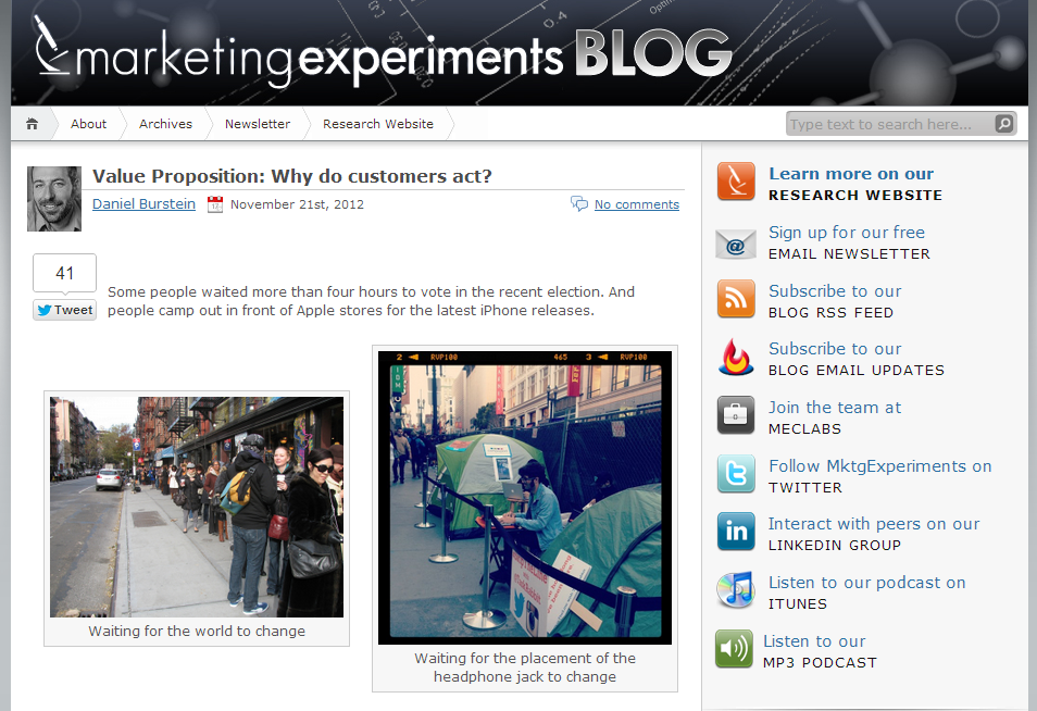 MarketingExperiments Blog