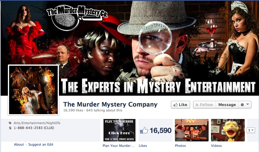 The Murder Mystery Company Facebook