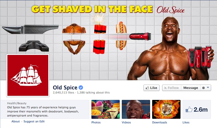 Old Spice Facebook