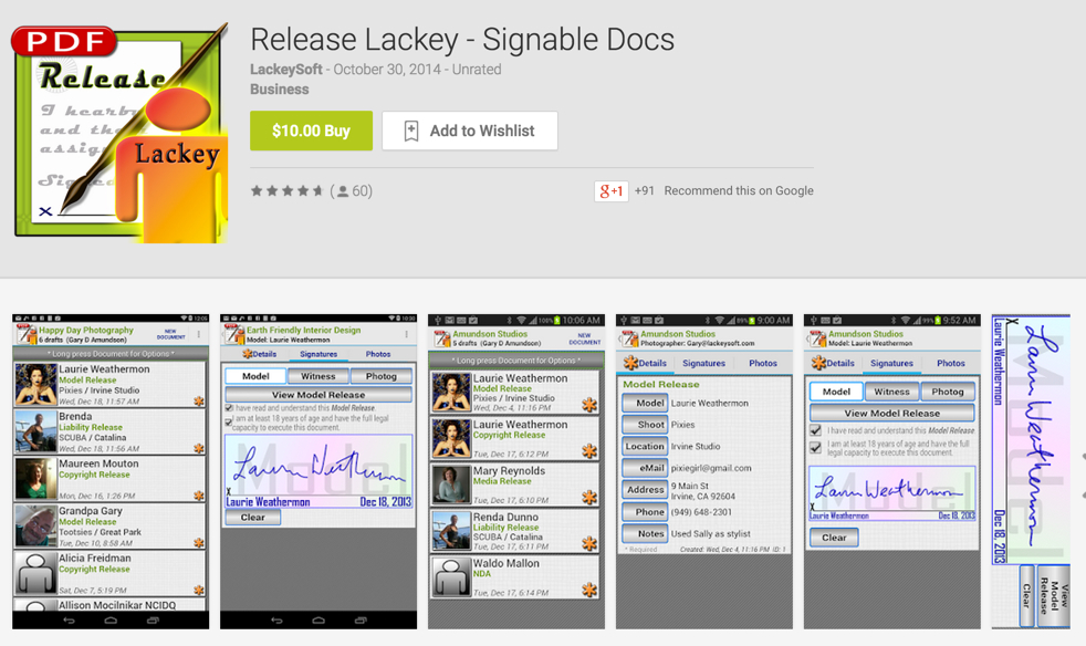 Obtain release signatures with Release Lackey.