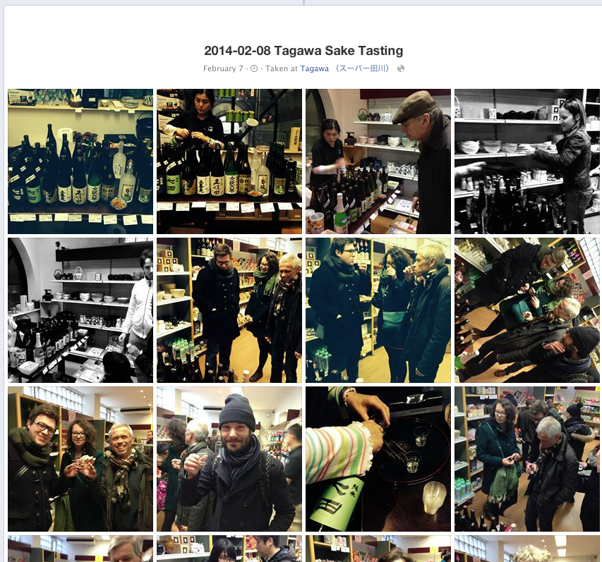 Tagawa photo album during event.