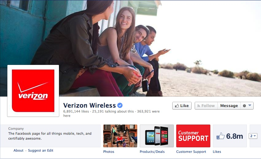 Verizon Facebook