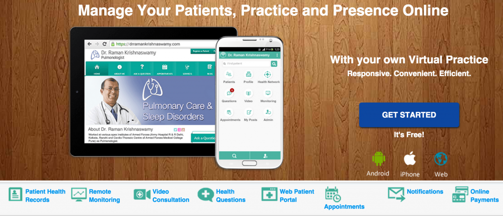 Marketing platform for physician practices.