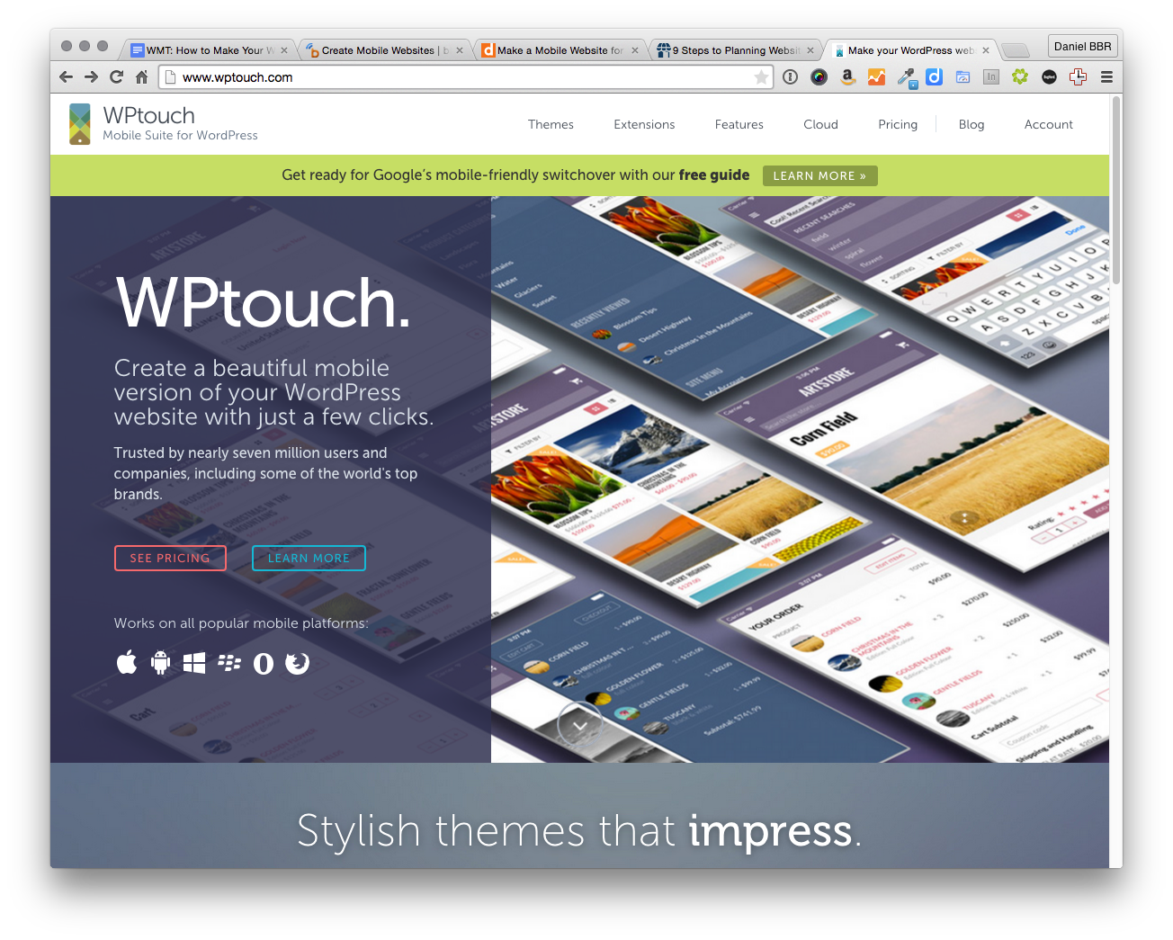 WP Touch is one of the best plugins for WordPress sites looking to add a custom mobile experience.