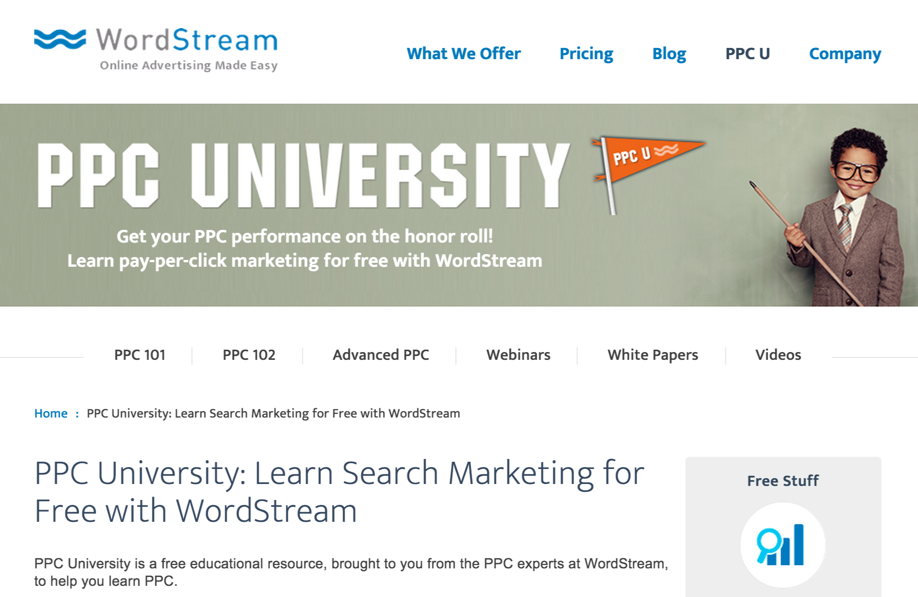 PPC U: Free Google AdWords training.