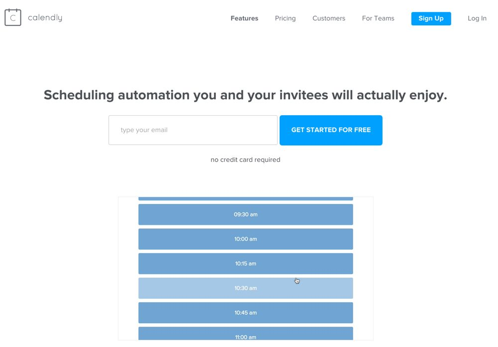Calendly: Simple, intuitive online scheduling.