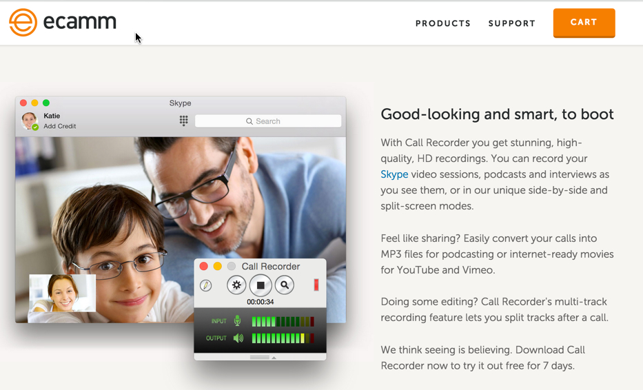 Ecamm lets you record Skype calls on your Mac.