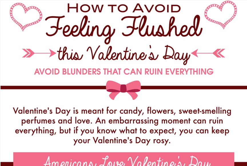 How to Avoid Feeling Flushed This Valentine's Day.