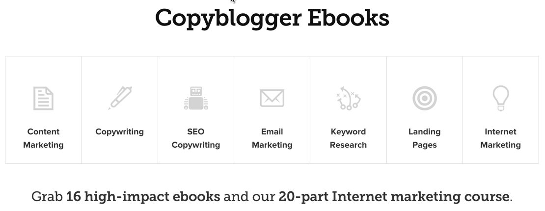 Copyblogger: Internet marketing and copywriting courses.