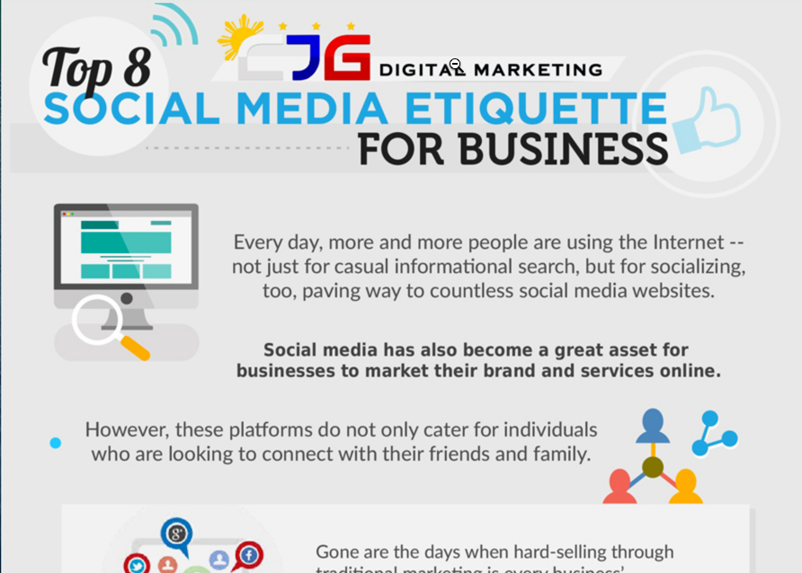 Social media etiquette for business. (Source: CJD Digital Marketing)