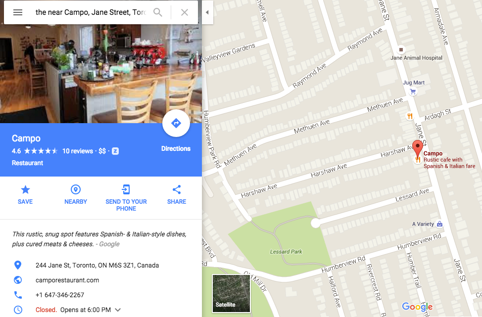When Maps users select a business, a card appears containing relevant information.