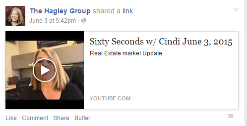 The Hagley Group uses video posts on its page.