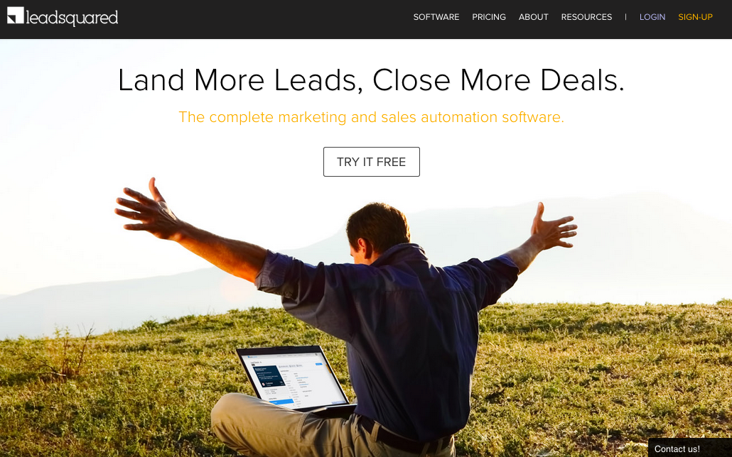 Leadsquared's platform centers around the use of landing pages.