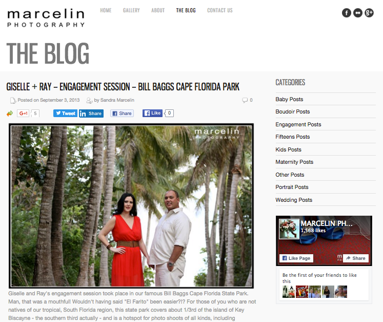 Marcelin Photography in Miami, Fla., features photos from photography sessions.
