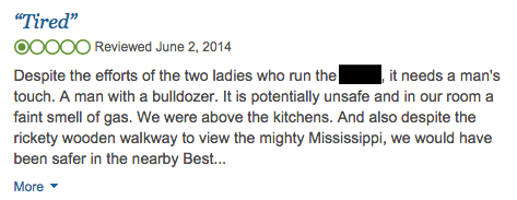 Strongly worded review from a customer.