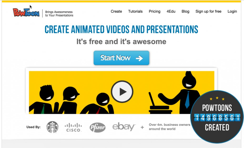 Powtoon is a free animation video creation tool.