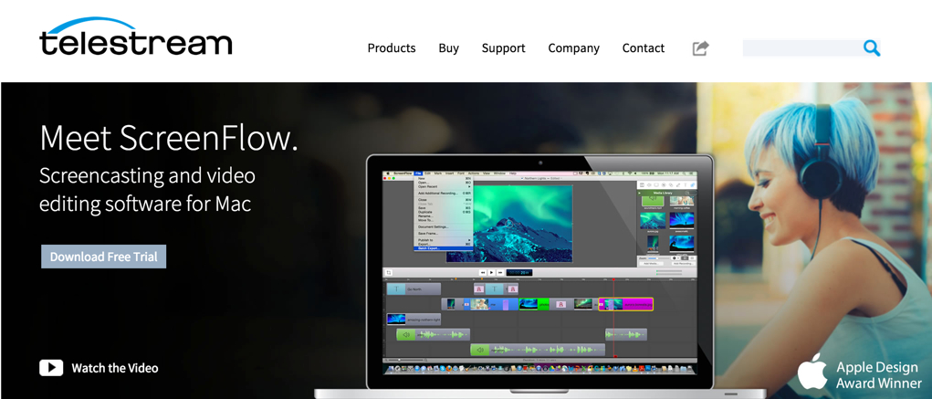 Screen capturing and video editing software designed for Macs.