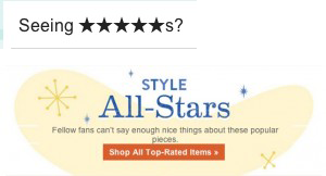 A starry email subject line from online retailer ModCloth.