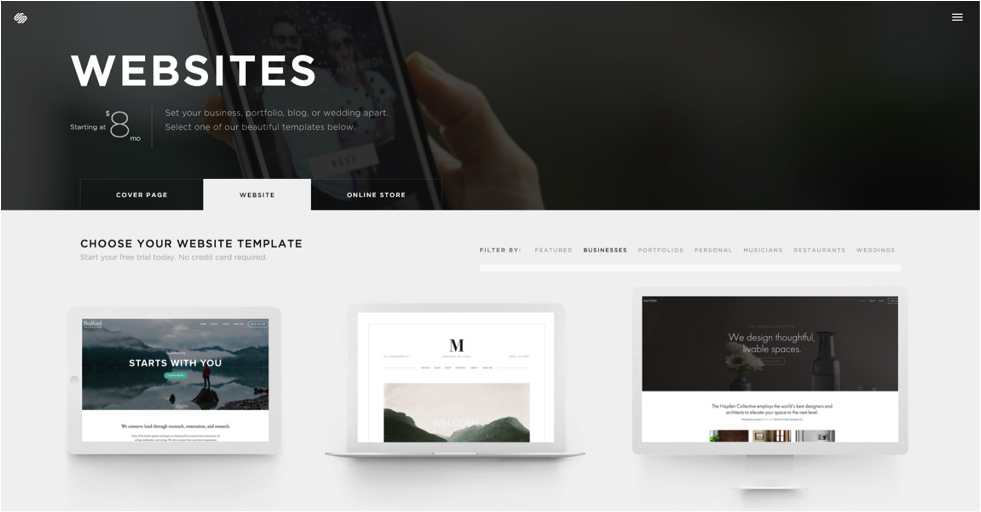 Squarespace is an easy to use website-building platform.