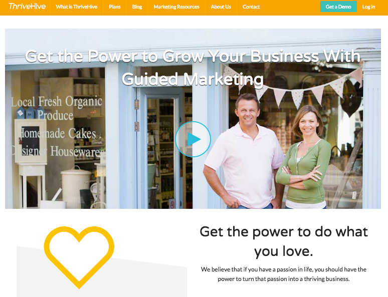 ThriveHive offers personalized marketing plans.