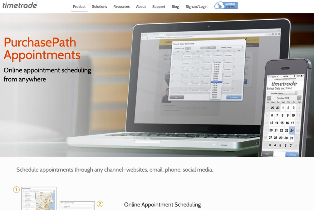 TimeTrade PurchasePath appointment software.