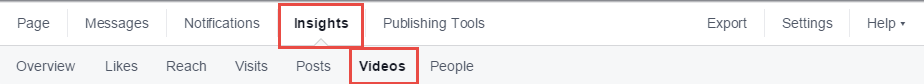 Facebook now includes a videos tab in page Insights.
