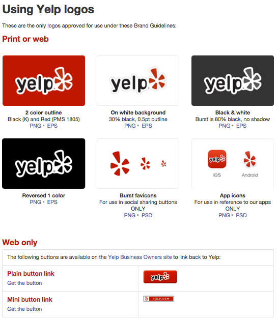Make your own sign using Yelp brand assets.