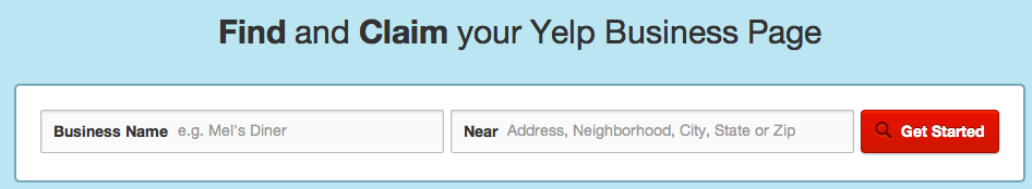 Search Yelp for Business to find your business listing.